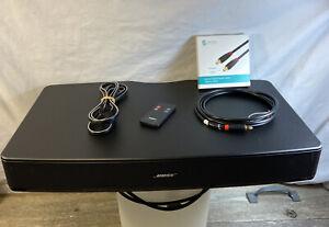 Bose Solo TV Sound System 410376 Under TV Sound Bar Remote Digital Audio Cable