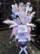 Birthday card & stand,Unicorn, Fairy, Ballerina choose your colors