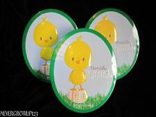 (3) OVAL EASTER CHICK~CHOCOLATE COVERED PRETZEL TINS~EMPTY~COLLECTIBLE~EUC