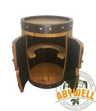 MINI DRINK CABINET | BOTTLE STORAGE_ Handcrafted Solid Oak Barrel Furniture