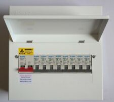 Metal Consumer Unit 100a Main Switch 8 Usable Way With 8 x MCBs Amendment 3