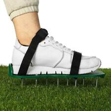30 x 13cm Spikes Pair Lawn Garden Grass Aerator Aerating Shoes Sandals Green