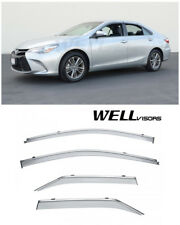 For 15-17 Toyota Camry WellVisors Side Window Visors Deflectors W/ Chrome Trim