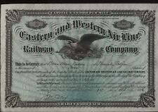 More details for 1886 eastern and western air line railway company share certificate