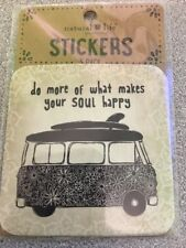 Natural Life 3 Pack Stickers VW Bus DO MORE OF WHAT MAKES YOUR SOUL HAPPY Hippie