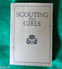 VINTAGE GIRL SCOUT - SCOUTING FOR GIRLS 1920 - FIRST EDITION