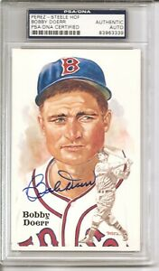 1987 Perez-Steele Hall of Fame 9th Series Postcard Signed by Bobby Doerr PSA/DNA