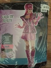 New Halloween Costume Pink Galactic Beauty Women Girl Space Adult Small 2-4