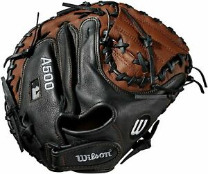 """Wilson A500 Youth Leather Right Hand Throw Catchers Baseball Mitt Glove 32"""""""