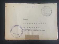 1943 Oberlangen Germany Stalag 6C POW Camp Commandant Cover Rupenest Mayor w/ltr