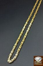 Real 14k Solid Yellow Gold Byzantine Chain 28 Inch Lobster Lock for Men & Women.