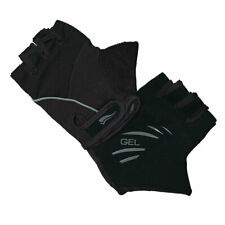 Cycling Mitts Unisex Black - Lycra Gel Cycle Mitts