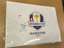 RYDER CUP GOLF FLAG 2016 HAZELTINE SIGNED BY RAFAEL CABRERA BELLO COMES WITH COA