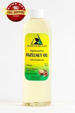 HAZELNUT OIL ORGANIC by H&B Oils Center COLD PRESSED PREMIUM 100% PURE 24 OZ