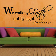 Bible Scripture Vinyl Wall Verse Home Removable Sticker Word Home Decals Decor
