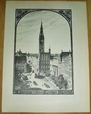 Danzig Gdansk  Lange Markt: alte Ansicht / Druck ca 1920