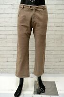 Pantalone Uomo VERSACE Taglia 38 Jeans Pants Man Cotone Regular Corto a Costine