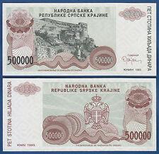 Croatia/krajina 500.000 dinara 1993 UNC without serial p. r23