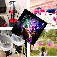 10PCS Balloons Light Up Valentines Christmas Wedding Celebration Party Wave Ball