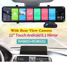 "12"" pulgadas 4G Wi-fi Android 8.1 coche DVR GPS de doble lente espejo retrovisor Cámara Dash"
