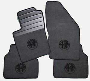 Gray velours floormats for Alfa Romeo 156 1997–2007