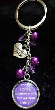 MOTHER OF THE BRIDE PURPLE KEYRING QUOTE THANK YOU GIFT BAG CHARM KEYRING PRETTY