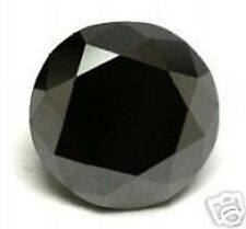 DIAMANT NOIR 1,614 CTS BLACK NATURAL LOOSE ROUND DIAMOND 6,92 MM