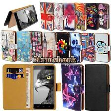 Leather Wallet Card Stand Flip Case Cover For Various Ulefone Phones + Strap
