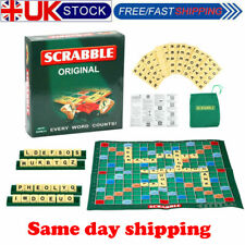 Family Original Scrabble Board Game Kids Adults Educational Toys Puzzle Game UK