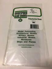 "Evergreen Styrene Sheet Plastic CLEAR .010 Scratch Building 12"" x 6"" 2 sheets"