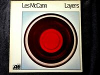 LES McCANN LAYERS VINYL LP ALBUM 1974 ATLANTIC RECORDS SOMETIMES I CRY, SOARING