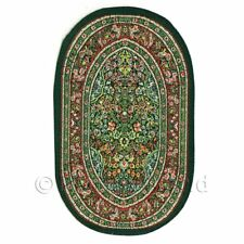 Dolls House Miniature Small Oval 17th Century Carpet / Rug (17nso01)