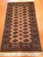 3x5 Hand knotted Bokhara Rug/Beije