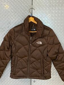Womens The North Face Down 550 Puffer Ski Jacket / Brown/ Size Ladies XS /TP