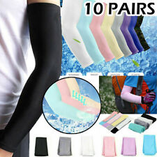 10 Pairs Cooling Arm Sleeves UV Sun Protection Cover Outdoor Sport Cycling Golf