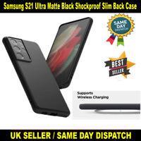 Samsung S21 Ultra SM-G998B Matte Black Shockproof Protective TPU Slim Back Case