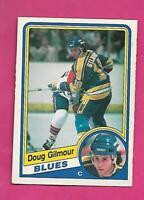 1984-85 OPC # 185 BLUES DOUG GILMOUR  ROOKIE VG+ CARD (INV# D0853)
