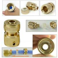 """Brass Connector 1/2 """"Garden Watering Water Hose Pipes Tap Adapter Q2K4"""