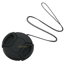 67mm Center Pinch Snap on Front Cap Hood Cover for Lens / Filters with Leash 67