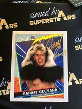 Sammy Guevara Autographed 8 X10  WWE WWF TNA ROH AEW NXT WCW AEW