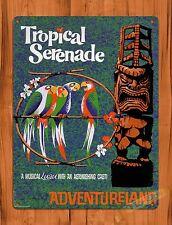 "TIN-UPS Tin Sign ""Disney's Tiki Room Tropical Serenade"" Ride Art Poster"
