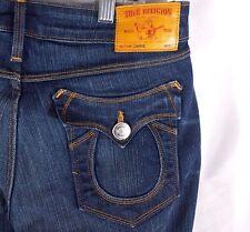 True Religion Women's Carrie Bell Jeans Low Waist Flare Dark Wash Sz 26 x 27
