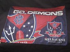 AFL MELBOURNE DEMONS GAME DAY FLAG 900 x 600mm - NEW!