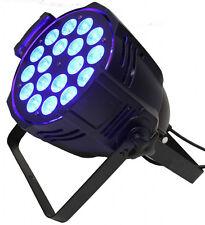 8pc  10°-60° zoom Par Can 18x18W RGBWA UV 6in1 LED zoom par light +flight case