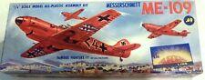 "THE RAREST AURORA MESSERSCHMITT Me-109  1955 ""TOWN"" ARTWORK  IN BURGUNDY"