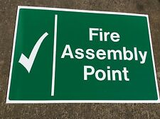 Construction site -Fire Assembly Point sign 600 x 400 on robust 5mm correx