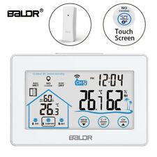 Baldr Weather Station Wireless Outdoor Thermometer Indoor LCD Digital Clock
