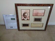 ORVILLE WRIGHT 1946 Signed / AUTOGRAPHED CHECK w/PICTURES & PLAQUE PSA / DNA LOA