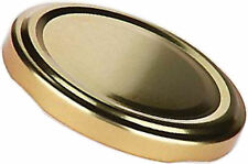 40 St. TO63-Deckel Gold, Twist-Off past.,Schraub Dreh Verschluß Deckel Marmelade