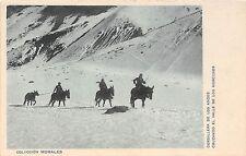 South America postcard Cordillera de los Andes cruzando el valle de los horcones